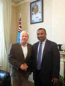 VAFijiHighCom Veterans Aid CEO Hugh Milroy Discusses Suffering Of Fijian Soldiers With High Commissioner