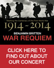 War Requiem Poster  Remembrance Sunday War Requiem in support  of Veterans Aid